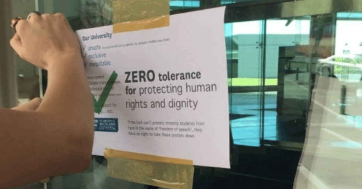 Zero Tolerance Poster- Sereana Naepi